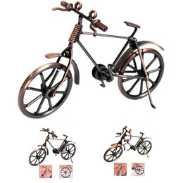 bicycles for children Australia - Home Decoration Retro Metal Bike Model Craft Bicycle Figurine For Friend Best Gifts Children Birthday Toy Present Desktop Crafts
