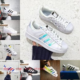 Discount super cheap men shoes - Sell 2018 Superstars men shoes Black White Gold Hologram Junior Originals Superstars 80s Pride Sneakers Super Star Cheap