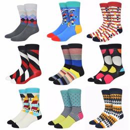 Wholesale mens funny socks online – funny Brand Happy Funny Mens Socks Men Cotton England Personality Male Socks Stripe Lattice Trend Socks Dress2PCS PAIRS