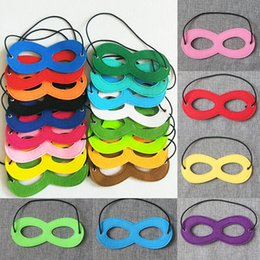 Wholesale Party Masks Felt Halloween Half Face Mask Party Decoration Masquerade Masks Craft Supplies Party Supplie Christmas Decor Free DHL WX9