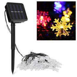 $enCountryForm.capitalKeyWord UK - 20leds LED Snow Flake Flowers Solar String Fairy Lights Outdoor Solar String Lights Decorated Garden Christmas