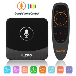 Discount free hd movies - Google Voice Control TV Box 2GB 16GB Androidtv System Free Movies Streaming Box Logo ilepo i18 New Arrivals S905W Smart