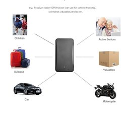 personal tracked vehicle 2019 - Mini Portable Real Time Personal And Vehicle Gps Tracker,Strong magnet,Be Tracked by Computer Phone App,No Monthly Fee (