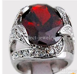 diamond cluster ring size Australia - 3.1ct Garnet Diamond 14K Solid Gold Ring