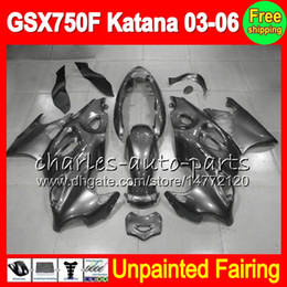 Unpainted Fairings Australia - 8Gifts Unpainted Full Fairing Kit For SUZUKI GSX750F Katana 03-06 GSX 750F GSXF750 03 04 05 06 2003 2004 2005 2006 Fairings Bodywork Body