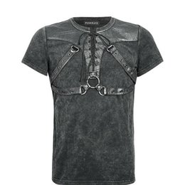 gothic clothing brands UK - Brand Punk Summer Solider Short Sleeve Men''s T-shirt Gothic Rock Black Tops T-shirt Plus Sizes XXXXL Mens Clothing