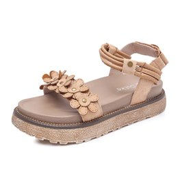 $enCountryForm.capitalKeyWord UK - Sandals female summer fairy flat flower students open toe Roman platform shoes flat women's shoes wild new women's sandals