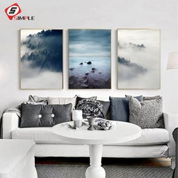 Art Canvas Prints Australia - Landscape Poster Scandinavian Canvas Painting Wall Picture For Living Room Nordic Art Print Home Decor 3 Piece No Frame