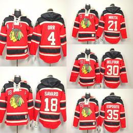 5f1af607f Chicago Blackhawks Old Time Hockey Hoodie  4 Bobby Orr  18 Denis Savard  30  Ed Belfour  35 Tony Esposito 21 Stan Mikita Heavyweight Hoodies