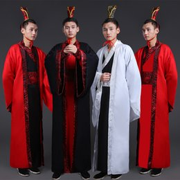 $enCountryForm.capitalKeyWord NZ - Chinese Traditional Folk Ancient Costume Men Stage Performance Outfit for Tang Dynasty Men Multicolor Hanfu Robe Cosplay Costume