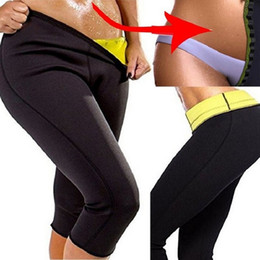 3d4169a895b429 Plus Size 3XL Women Neoprene Running Pants Sport Leggings Elastic Body  Shaper Fat Burning Slimming Workout Yoga Pant