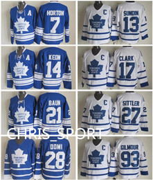 $enCountryForm.capitalKeyWord NZ - Toronto Maple Leafs throwback hockey jerseys 7 Tim Horton 13 Mats Sundin 14 Dave Keon 17 Wendel Clark 21 Bobby Baun 93 Doug Gilmour