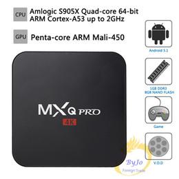 Android Tv Box Full Loaded NZ - MXQ Pro 4K TV Box Amlogic S905X Quad Core 1GB Flash Android 7.1 Ultra 4K Streaming full load 4K box Android