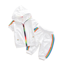 Boys winter coat pants online shopping - Kids Boy Girl Clothes Sportswear Summer Fashion Tracksuit Short Sleeve Coat Pants Colorful Clothing For Girls Children Set