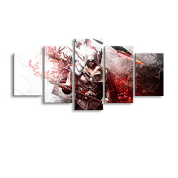 Art Canvas Prints Australia - 5 pieces high-definition print assassins creed canvas oil painting poster and wall art living room picture YX-002
