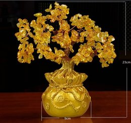 Lower Price with Table Car Diy Handmade Art Natural Crystal Office Desk Decorations Home Ornament Carft Tv Cabinet Lucky Gift Money Tree Figurines & Miniatures Home & Garden