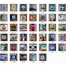 $enCountryForm.capitalKeyWord NZ - Lot 40pcs Different Styles Route 66 Retro Metal Signs Tin Painting Home Decor Posters Crafts Supplies Wall Art Pictures Decor Xmas Gift
