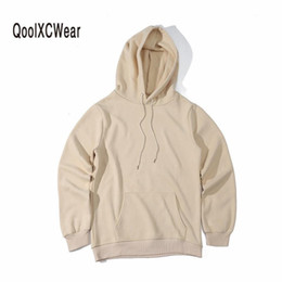 $enCountryForm.capitalKeyWord Canada - QoolXCWear Hoodie Hip Hop Street wear Sweatshirts Skateboard Men Woman Pullover Hoodies brown black Army green khaki Male Hoodie