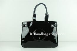 Fashion women famous brand MICHAEL KALLY bags luxury designer bag bright  face patent leather shoulder tote bag large capacity handbags 0567f517c657