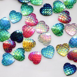 "$enCountryForm.capitalKeyWord NZ - 12mm Mixed Iridescent AB Round Circle Resin Mermaid   Fish   Dragon Scale"" Dome Seals Cabochon (100 Pcs)"