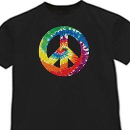$enCountryForm.capitalKeyWord Canada - Tie-dye peace sign Tie Dye shirt tye Cool Black T-shirt