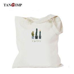$enCountryForm.capitalKeyWord Canada - TANGIMP Cactus Bag Handbags Women Canvas Shoulder Bags Eco Fashion Shopping Beach Zipper Bags for Teenagers Girls Ladies Totes