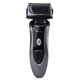 $enCountryForm.capitalKeyWord UK - KM9001 Electronic Rechargeable Shavers for Men Triple Blade Shaving Razors Men Face Care 3D Floating Shaver EU plug