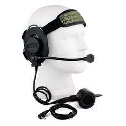 Discount tactical headsets ptt - for Kenwood BaoFeng UV-5R HD03 Z Tactical Bowman Elite II Headset with U94 PTT for Kenwood Radio Baofeng UV-5R GT-3 UV82