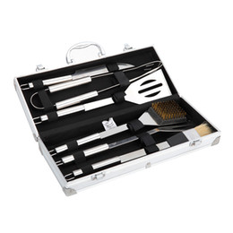 $enCountryForm.capitalKeyWord UK - 6pcs Stainless Steel BBQ Tool Set Barbecue Cooking Tools Kit with Metal Case Best Price