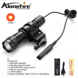 $enCountryForm.capitalKeyWord NZ - AloneFire 501Bs LED Flashlight Red Flash Portable Outdoor Hunting Flash Lantern Tactical Flashlight Torch For Rechargeable Batteries