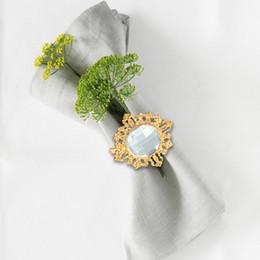 Diamond Napkin Holders Australia - 12pcs Napkin Ring Table Serviette Holder Acrylic Water Diamond Design Napkin Ring for Wedding Banquet Dinner Decoration
