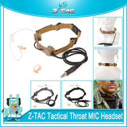 Z-TAC Tactical zBowman Throat Mic Earphone Adapter For Style EVO III Dual Side Headset Tactical Detective High Tone Headphone Wargame from plextone earphones manufacturers