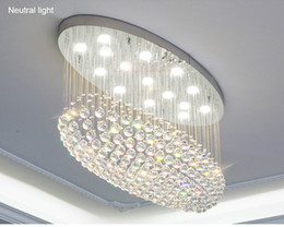 Drop Down ceiling lights online shopping - Modern Oval LED K9 Crystal Chandelier Lighting Rain Drop Crystal Ceiling lights for Living Room Bedroom Villa Kitchen Lamp L31 quot W12 quot H24 quot