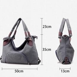 $enCountryForm.capitalKeyWord Canada - New Women Bag Canvas Women Handbags Large Capacity Messenger bags Female Shoulder Bags Ladies Casual Tote Bolsas Feminina