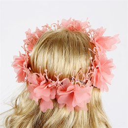 band clothes for 2019 - 1pcs Beautiful Colorfull Flower Wreath Hair Crown Headwear Hair Bands For 18 Inch American Girl Doll Clothes & Accessori