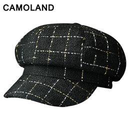 Baseball caps for women winter Gold wire knitted hat Ladies Octagonal bone  Elegant Newsboy cap Fall warm beret girl visor gorras 7bd28b76e5d5