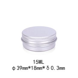 $enCountryForm.capitalKeyWord NZ - 15ml Aluminium Balm Tins pot Jar 15g Comestic Containers with Screw Thread Lip Balm Gloss Candle Packaging