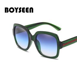 b9606168180 BOYSEEN New Fashion Sunglasses Square Unisex Sunglasses Colorful Oceanic  Decorative Mirror Eyewear 66417