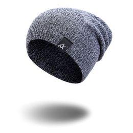 0e61cd2e13c NEW Men Women Fashion Cotton Knit Baggy Beanie Oversize Winter Hat Ski  Slouchy Chic Cap Brown Gray