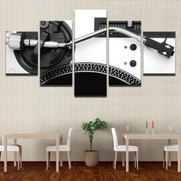Decorative Canvas Print Art Australia - Canvas HD Printed 5 Panels Music DJ Console Instrument Mixer Posters Modern Home Wall Art Decorative Painting Modular Pictures Y18102209
