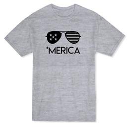 Urban Clothes For Men Australia - Urban 'Merica Glasses Graphic Men's T-shirt Loose Clothes T Shirt Discount 100 % Cotton T Shirt for Men'S