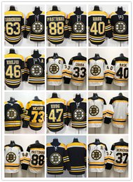 Boston Bruins Ice Hockey 33 Zdeno Chara 37 Patrice Bergeron 63 Brad  Marchand 88 David Pastrnak 40 Tuukka Rask 46 David Krejci jerseys boston  bruins green ... 712e94a63