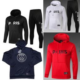 fdc2f6b85 18 19 Liga de Campeones Paris Jordam Chándal con capucha 2019 maillot de  foot Paris Sudadera PSG MBAPPE CAVANI Chaquetas de fútbol Jersey con capucha