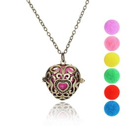 Hollow Perfume Lockets Australia - True Love Heart Sliver Necklace Locket Aromatherapy Essential Oil Diffuser Hollow Necklace perfume pendant Gifts Wholesale Fast Shipping