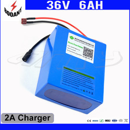 Motor Bicycles Australia - Electric Bicycle Battery 36V 6Ah 450W For Bafang Motor eBike Lithium Rechargeable Battery Pack 36V With 18650 Cell 2A Charger