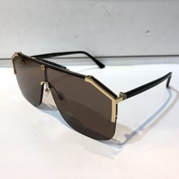 Chinese  Luxury 0291 designer sunglasses For womens Fashion Sunglasses Wrap Sunglass Half Frame Coating Mirror Lens Carbon Fiber Legs Summer Style. manufacturers