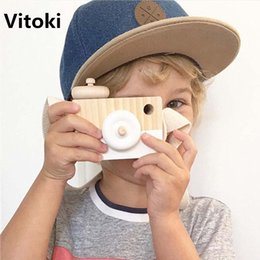 Camera Toy Gifts Australia - 2017 Cute Wooden Camera Toys Ornament for Children Fashion Clothing Accessory Blue Pink White Mint Green Purple Christmas Gifts