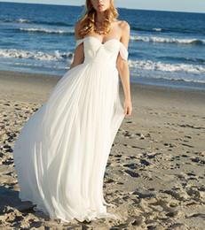 $enCountryForm.capitalKeyWord NZ - 2018 Elegant Boho Beach Chiffon Wedding Dress Sexy Off Shoulder Floor Length Chiffon Country Wedding Bridal Gowns Vestidos de Novia Custom