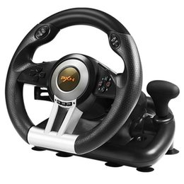 Wholesale PXN V3II Racing Game Steering Wheel USB Game Controller Computer Car Driving Simulator for PC Wii Games Wheel for PS3 PS4 Xbox