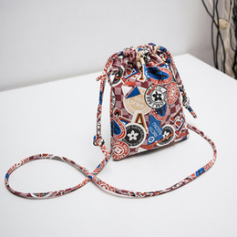 Женщины многоразовые сотовый телефон печати складной PU Drawstring мешок горячей продажи кошелек мини студент фламинго сумки женский